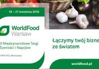 Międzynarodowe Targi Żywności i napojów/19-21.04.2016
